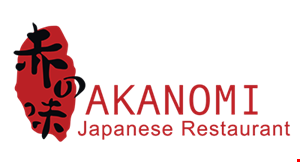 Product image for Akanomi Japanese Restaurant $5 off purchase