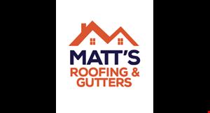 Matt's Roofing & Gutter logo