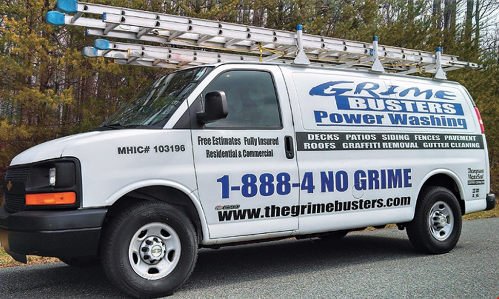 Product image for Grime Busters Power Washing $50 off power washing