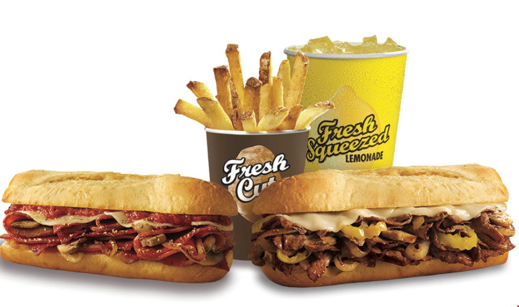 Product image for PENN STATION EAST COAST SUBS- Raleigh, Falls of Neuse Rd. Location Only DINE-IN, TAKE-OUT, & PHONE-IN ORDERING $19.99 FAMILY MEAL DEAL 4 SMALL SUBS AND 2 MEDIUM FRESH CUT FRIES.