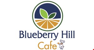 Product image for Blueberry Hill Cafe $3 Off any purchase of $15 or more. $5 Off any purchase of $25 or more.