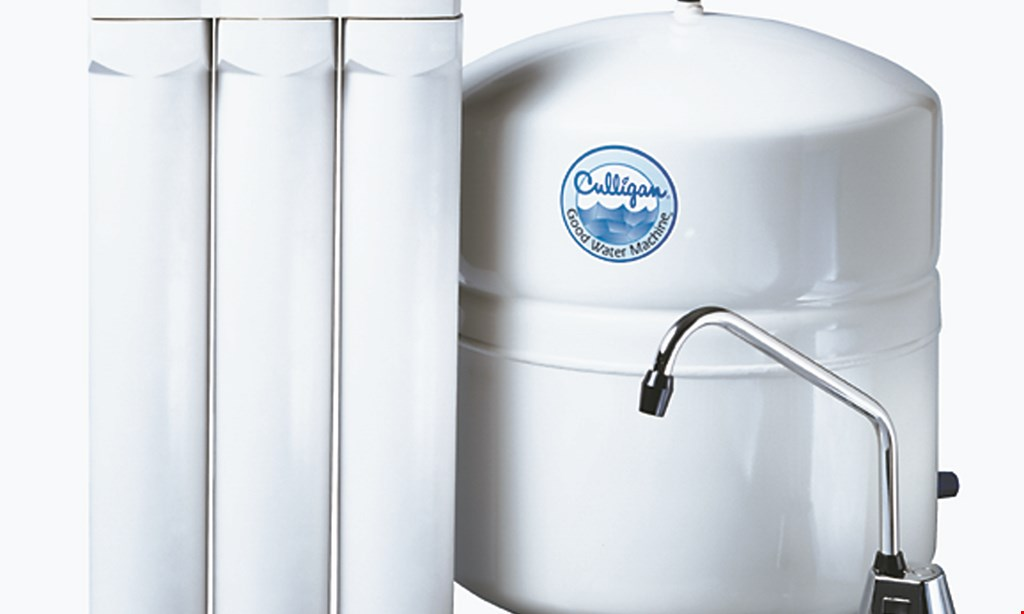 Product image for CULLIGAN Free installation on reverse osmosis rental.