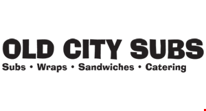 Product image for Old City Subs 50%OFF Sub buy one, get one 1/2 off of equal or lesser value