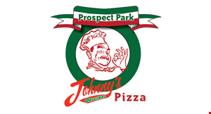 Product image for Johnny's Original Pizza $19.99 + tax 1 large pizza, 10 wings & 2 liter drink