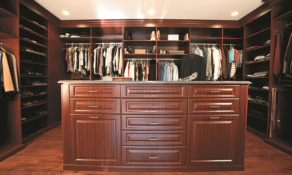 Product image for Custom Closets Direct $100 Off any order of $1000 or more.