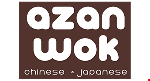 Product image for Azan Wok $5 off purchase of $35 or more.