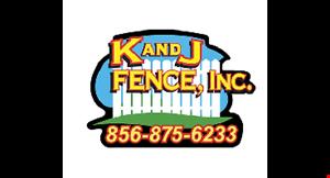 K and J Fence, Inc. logo