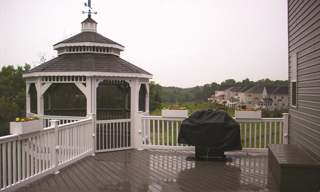 Product image for ABBEY FENCE & DECK CO. $200 off any installed deck project including: wood, composite or vinyl (some minimums apply).