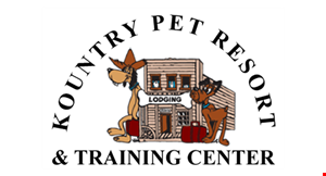 Product image for Kountry Pet Resort & Training Center $150 off 10-Day Lodge & LearnTraining Program. $75 off 5-Day Lodge & LearnTraining Program. .