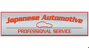Product image for Japanese Automotive 10% off labor up to $100 discount