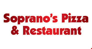 Product image for Soprano's Pizza & Restaurant $10 OFF ANY ORDER $50 OR MORE