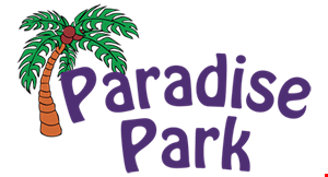 Product image for Paradise Park $29.95 4 games of miniature golf, 1-topping pizza & pitcher of soda for 4 people