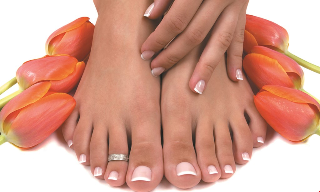Product image for Spazio Nails $3 off any spa pedicure of $45 or more.