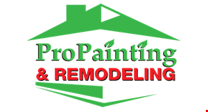 Product image for Pro Painting & Remodeling $300 Off Exterior Project of $3000 or more.