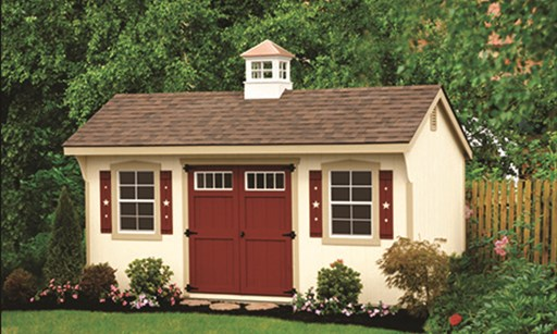 Product image for G-C Sheds LLC $75 OFF any in-stock sheds