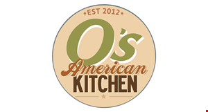 Product image for O's American Kitchen ONLY $19.99 LARGE 1 TOPPING PIZZA & 6 BREADSTICKS.