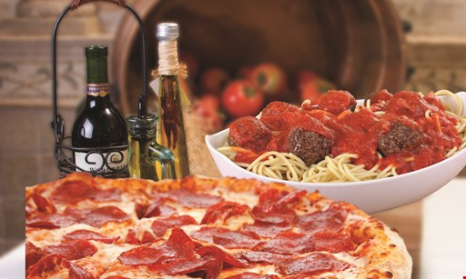 "Product image for Riviera Pizza & Pasta $10.99 + tax 16"" 12 cut lg cheese pizza OR $11.99 + tax 18"" 16 cut lg cheese pizza"