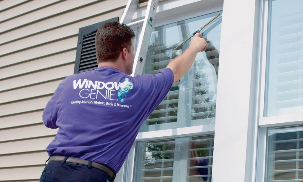 Product image for WINDOW GENIE 10% OFF Any Window Cleaning, Window Tinting, Pressure Washing,Gutter Cleaning Or Sanitizing.