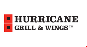 Product image for HURRICANE GRILL & WINGS 15% off any food purchase