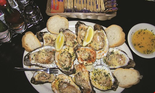 Product image for Buster's Place Restaurant & Oyster Bar FREE 1/2 Doz. Raw Oysters with the purchase of Busters. Specialty Entrees on menu.