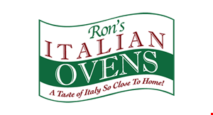 "Product image for Ron's Italian Ovens FREE DELIVERY PLUS FREE LITER OF SODA With the purchase of any 16"" pizza with one or more toppings."