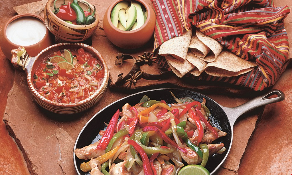 Product image for El Pino Authentic Mexican Restaurant $14.99 +tax fajitas for two chicken or beefdine in only