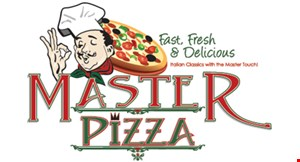 Product image for Master Pizza $2 OFF Any Purchase of $15 or more