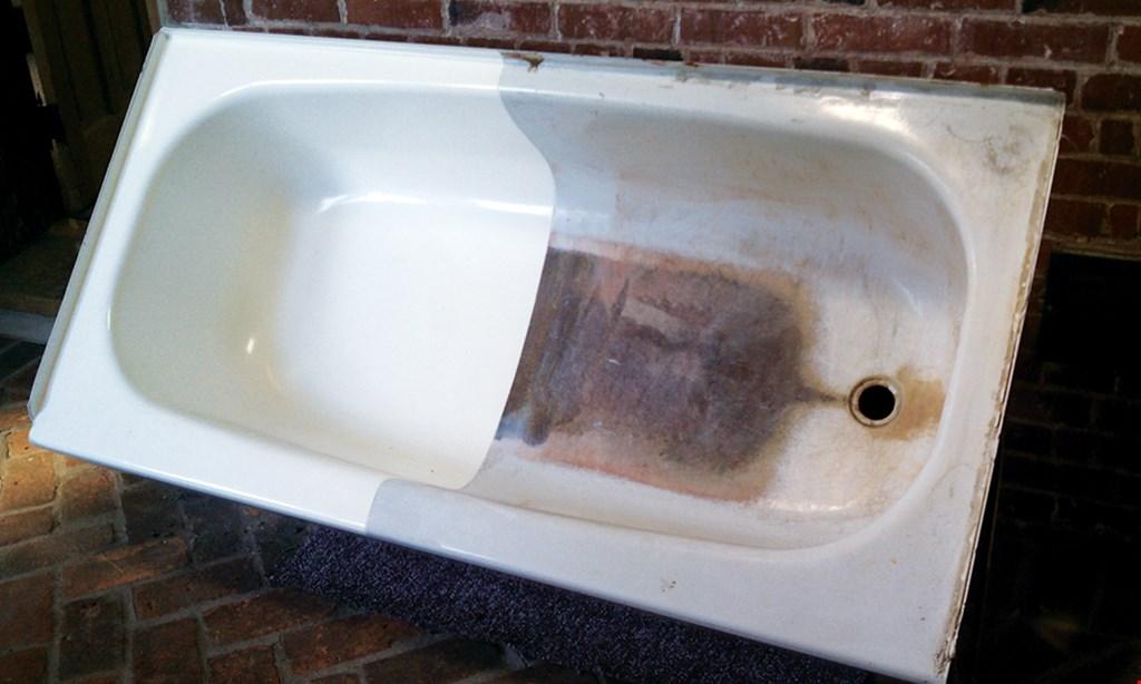 Product image for Bath Magic Save $50 standard bathtub reglazing with ad