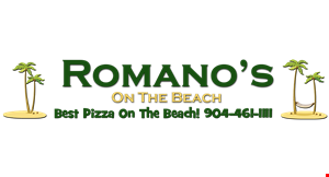 Romano's on The Beach logo