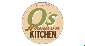 Product image for O's American Kitchen $10 OFF any purchase