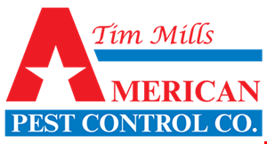 Product image for Tim Mills American Pest Control Co. $20 off initial service call