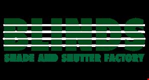 Blinds Shade and Shutter Factory logo