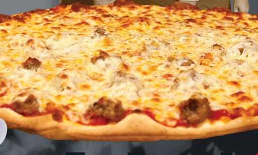 "Product image for ROSATI'S OF LOCKPORT $12.99 16"" thin crust cheese pizza. Toppings extra $2.50 each; limit 2. Savings of $5.00."
