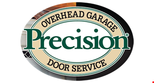 Product image for Precision Overhead Garage Door Service $50 off. Spring
