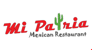 Product image for Mi Patria $2 off any lunch purchase of $10 or more (before tax) valid 11-4 daily