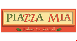Product image for Piazza Mia Italian Bar & Grill $5 OFF any check of $30 or more valid for dine in & take-out.