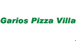 Product image for Garios Pizza Villa $20 offany purchase of $100 or more.