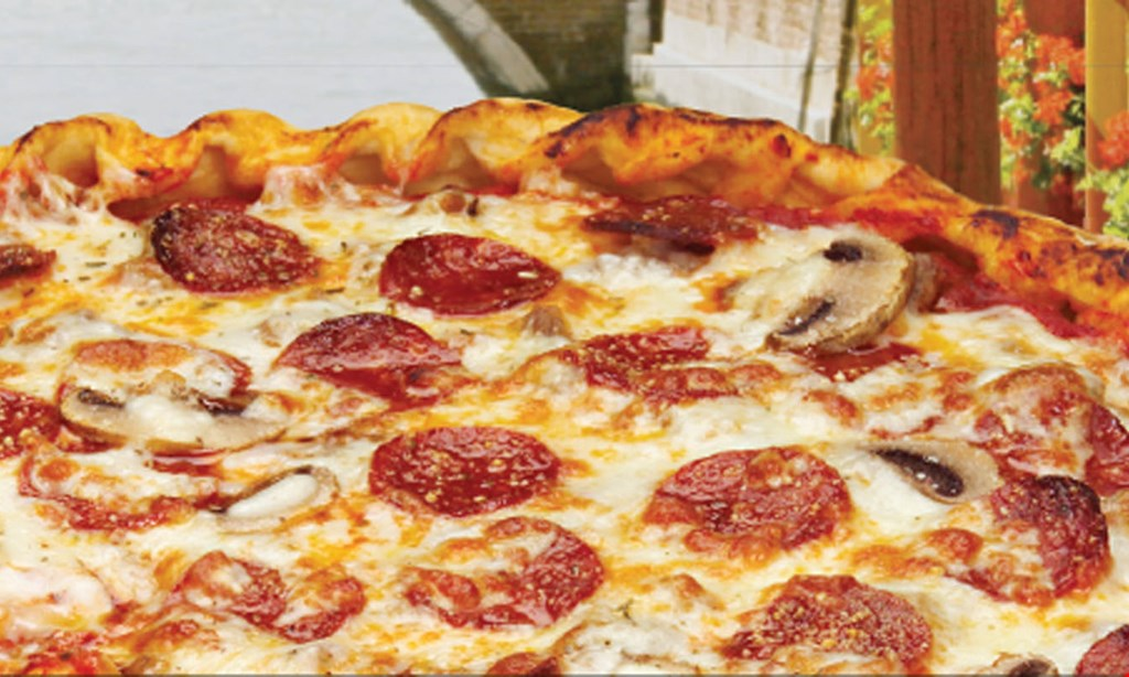 """Product image for Papa Saverio's Pizzeria- McHenry Family Feast Jr. 14"""" Thin Crust CheesePizza, 1/2 Dozen Wings, 4 Garlic Breadsticks, & 2-Liter of Pop. Only $19.99."""