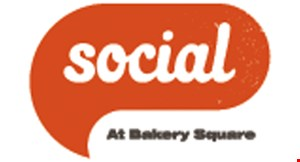 Product image for Social at Bakery Square $5 off total purchase of $25 or more.