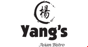 Product image for Yang's Asian Bistro $10 off any purchase