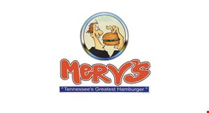 The Original Merv's-Tennessee's Greatest Hamburger logo