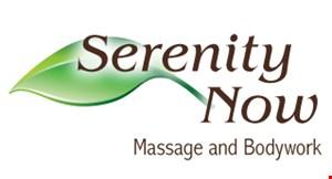 Serenity Now Massage and Bodywork logo