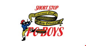 Product image for Short Stop Po Boys 25% OFF any po-boy buy any po-boy, receive the 2nd po-boy of equal or lesser value 25% off!.