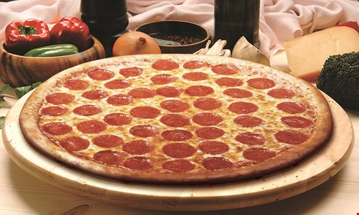 Product image for DC's Pizza & Catering 24-cut 1-topping pizza for only $25.75 + tax.