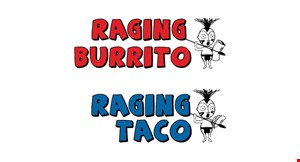 Product image for Raging Burrito Raging Taco $10 off any purchase