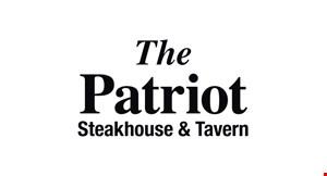 The Patriot Steak House & Tavern logo