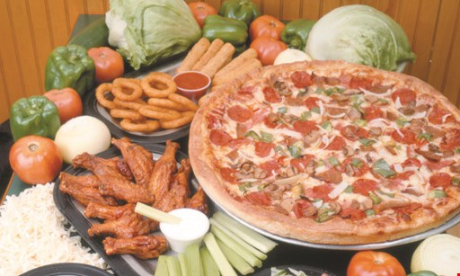 "Product image for Jake's Pizza $1 off any 12"" or 14"" pizza OR $2 off any 16"" pizza OR $3 off any 18"" pizza OR $4 off any 20"" pizza"