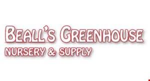 BEALL'S GREENHOUSE NURSERY & SUPPLY logo
