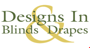 Designs in Blinds & Drapes logo