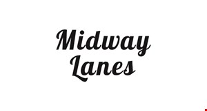 Product image for Midway Lanes $13 For 2 Games Of Open Bowling, 2 Pairs Of Rental Shoes & 2 16-oz. Sodas For 2 People (Reg. $26)